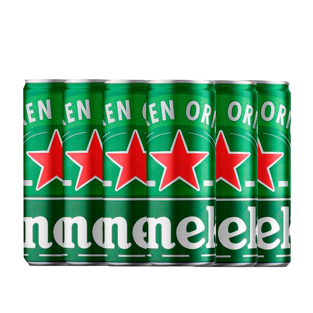 Imagem de Cerveja Heineken Long Neck 250 ml com 6 unidades